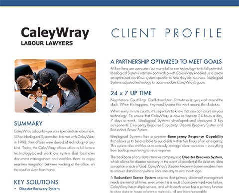 Case Study of CaleyWray Labour Lawyers