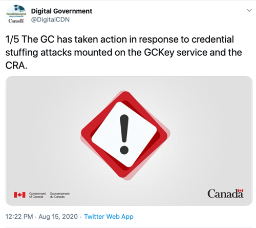 CRA cyberattack twitter announcement